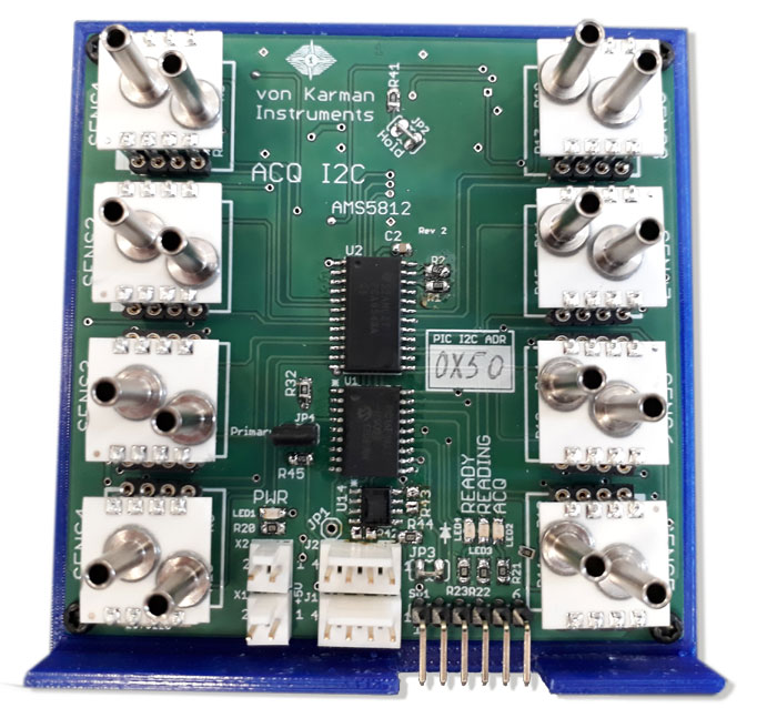 Acquisition module for eight differential pressure sensor