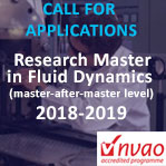 CALL FOR APPLICATIONS RESEARCH MASTER IN FLUID DYNAMICS