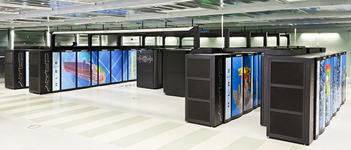 Hazel Hen, the CRAY XC40-System of the High Performance Computing Center Stuttgart (HLRS), delivers a peak performance of 7.42 Petaflops (quadrillion floating point operations per second). Copyright: Boris Lehner for HLRS