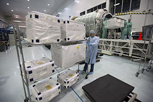 The QB50 cubesats placed in the pressurized cargo module of ATK's OA-7 Cygnus
