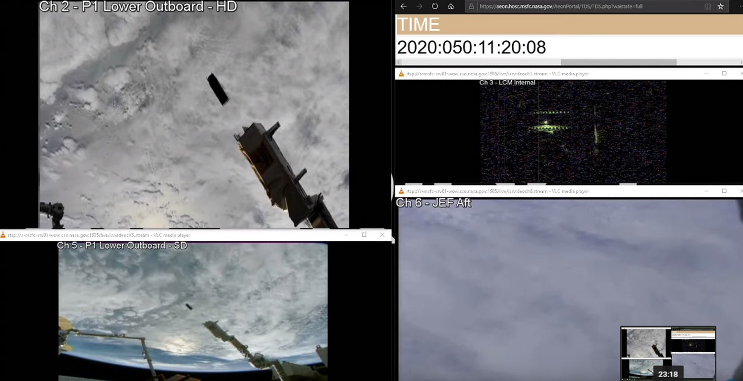 Successful ejection of Qarman from ISS