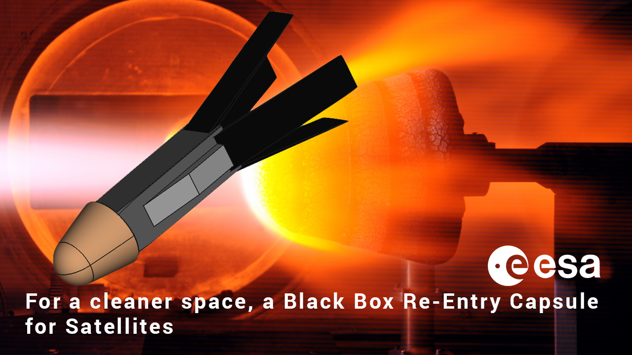 ESA project For a cleaner space, a Black Box Re-Entry Capsule for Satellites - RAPID