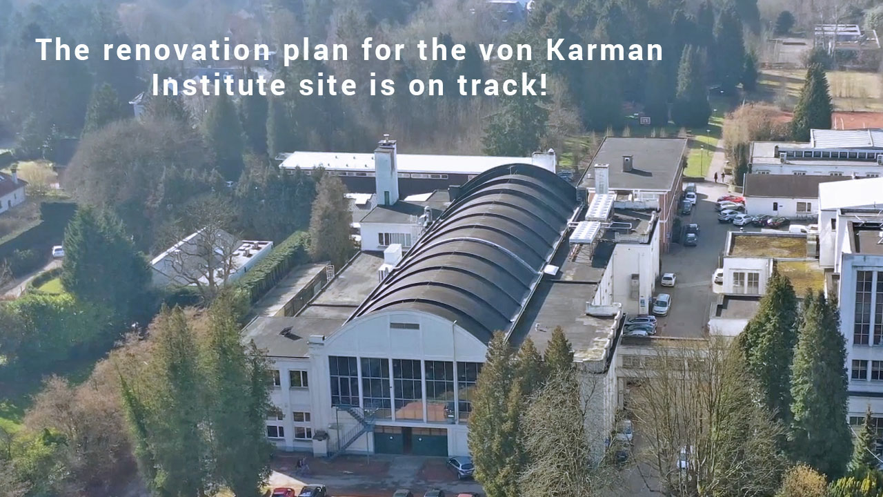 The renovation plan for the von Karman Institute site is on track!