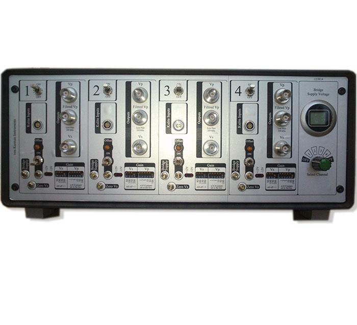 Amplifier for four-channel resistive pressure sensor